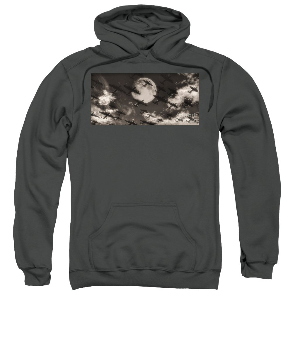 Aviaton Sweatshirt featuring the digital art Operation Moonlight by Richard Rizzo