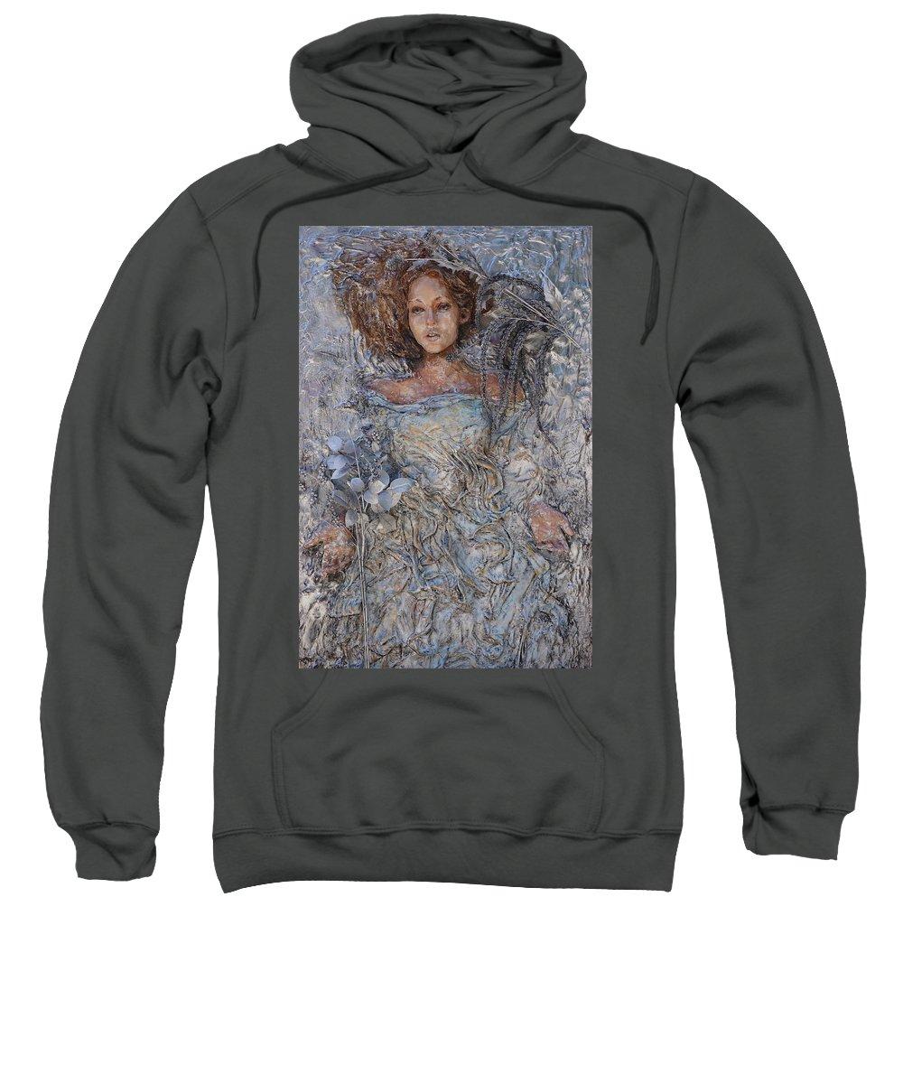 Sweatshirt featuring the sculpture Ophelia by Tessa Moeller