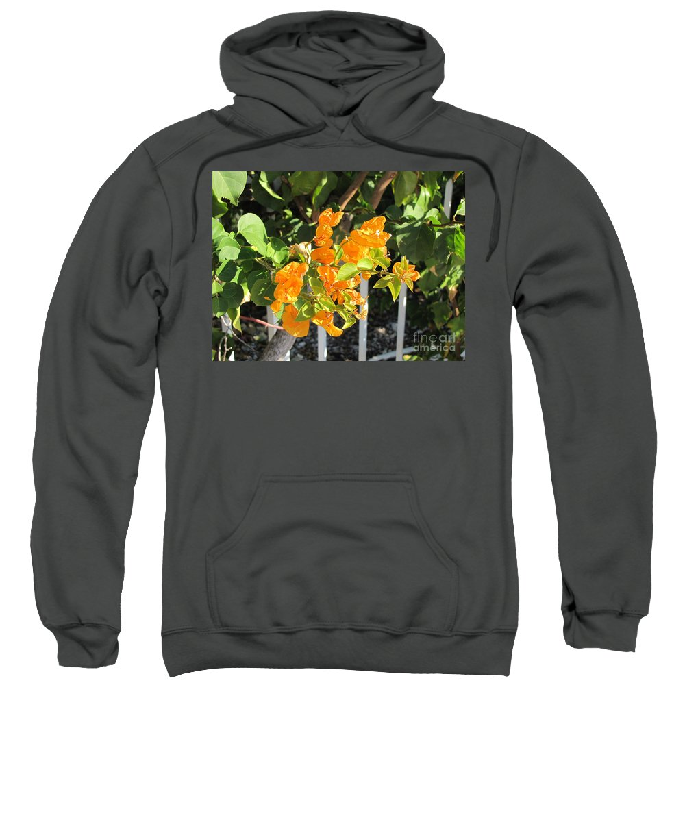 Flowers Sweatshirt featuring the photograph Orange Flower by Michelle Powell