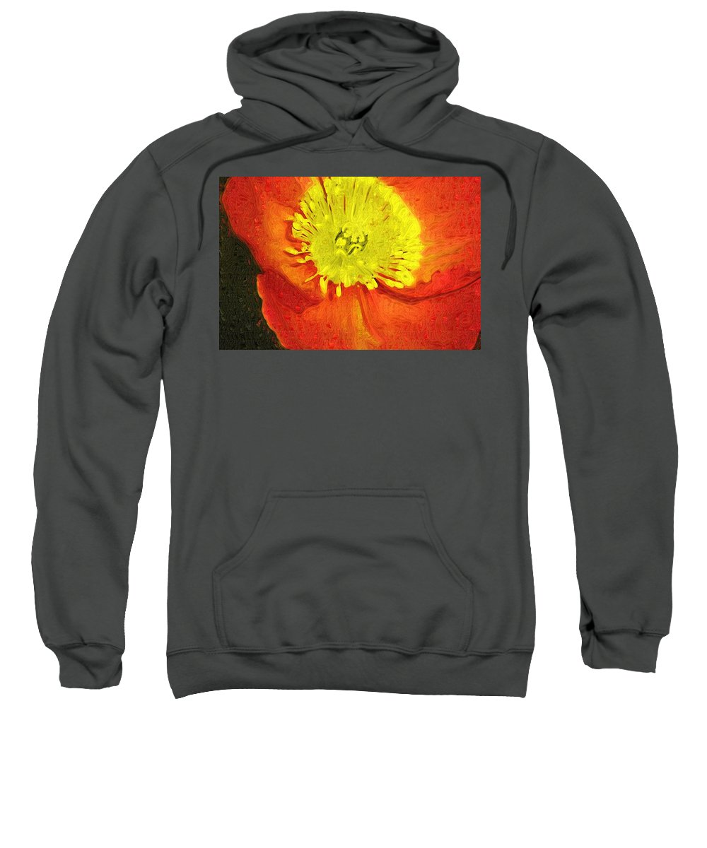 Poppy Sweatshirt featuring the photograph Orange Poppy by Donna Bentley