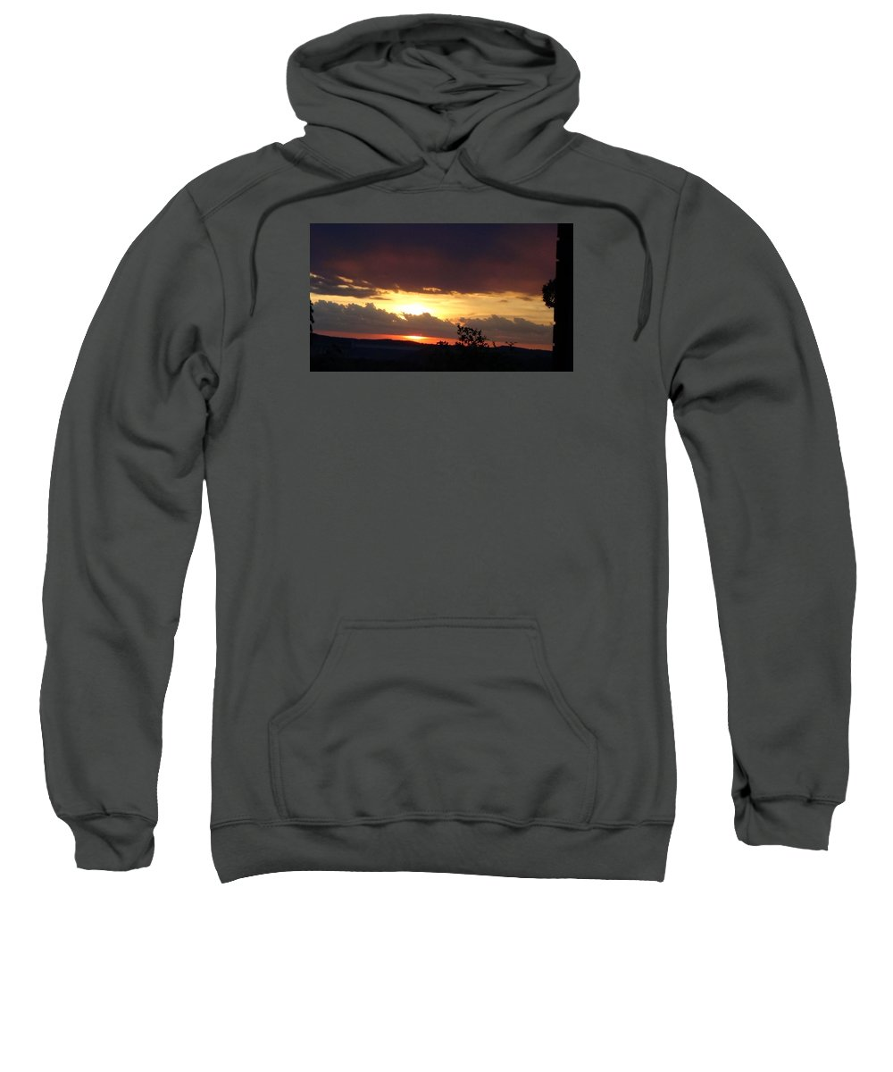 Sunset Sweatshirt featuring the photograph Orange September Sunset by Toni Berry