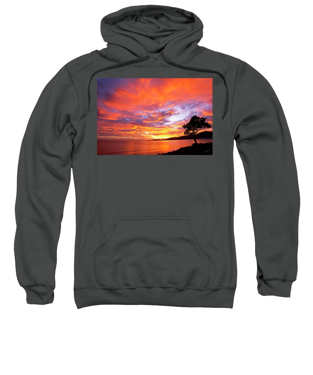 Sunset Sweatshirt featuring the photograph Orange Sky by Gregory Scott