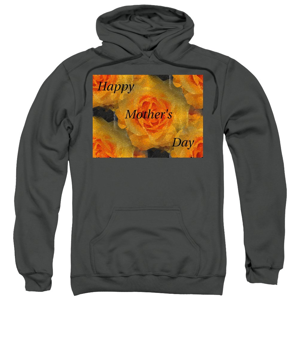 Mother's Day Sweatshirt featuring the digital art Orange You Lovely Mothers Day by Tim Allen