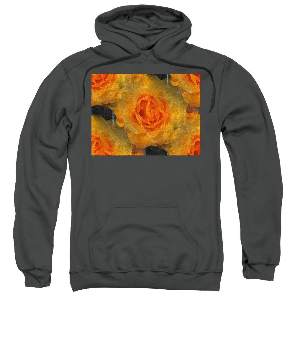 Flower Sweatshirt featuring the digital art Orange You Lovely by Tim Allen