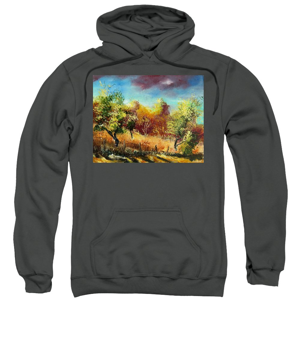 Flowers Sweatshirt featuring the painting Orchard by Pol Ledent