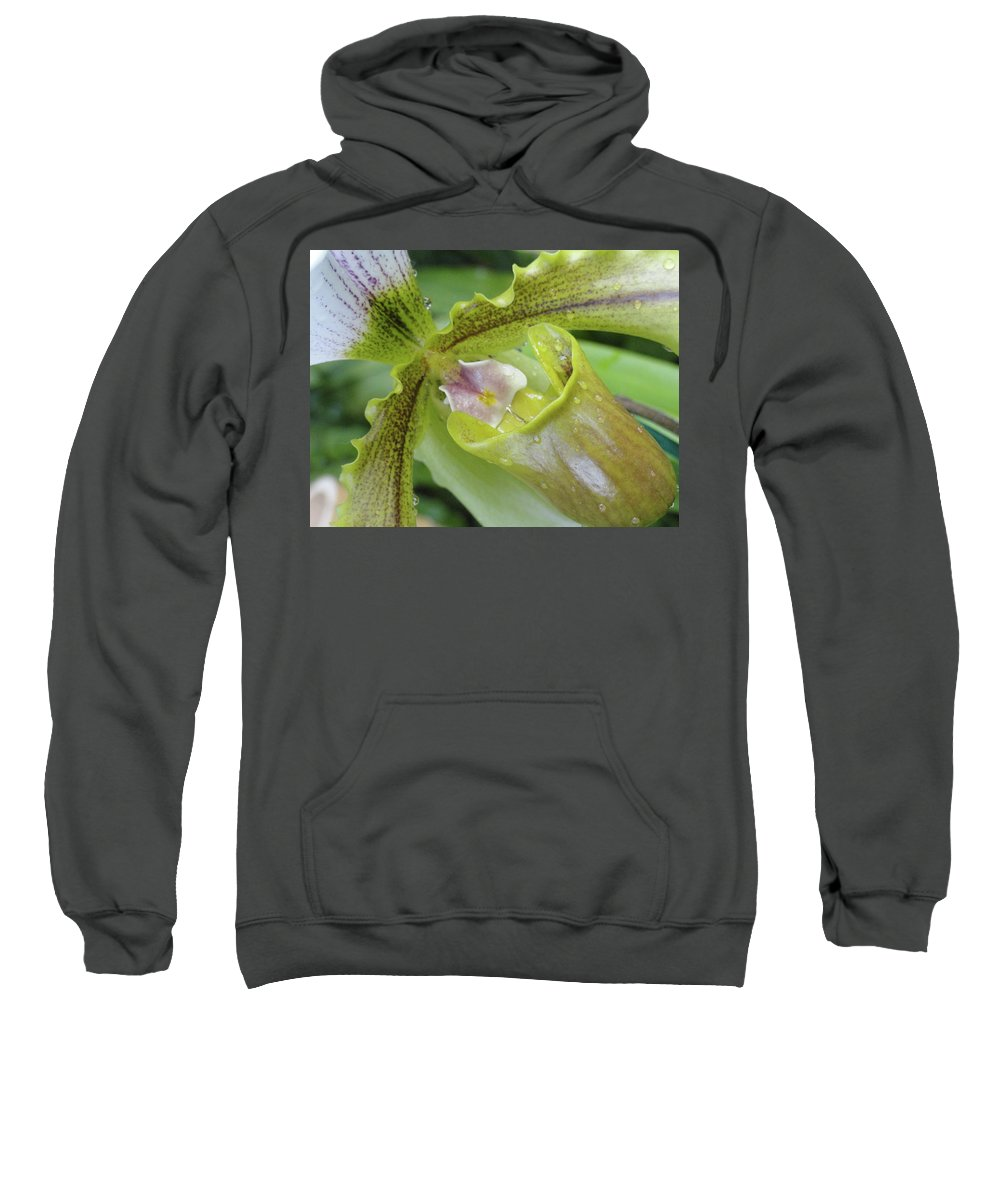 Orchid Sweatshirt featuring the photograph Orchid Love by Trish Hale