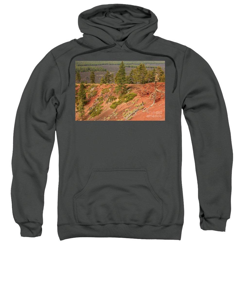 Oregon Landscape Sweatshirt featuring the photograph Oregon Landscape - Red Crater by Carol Groenen