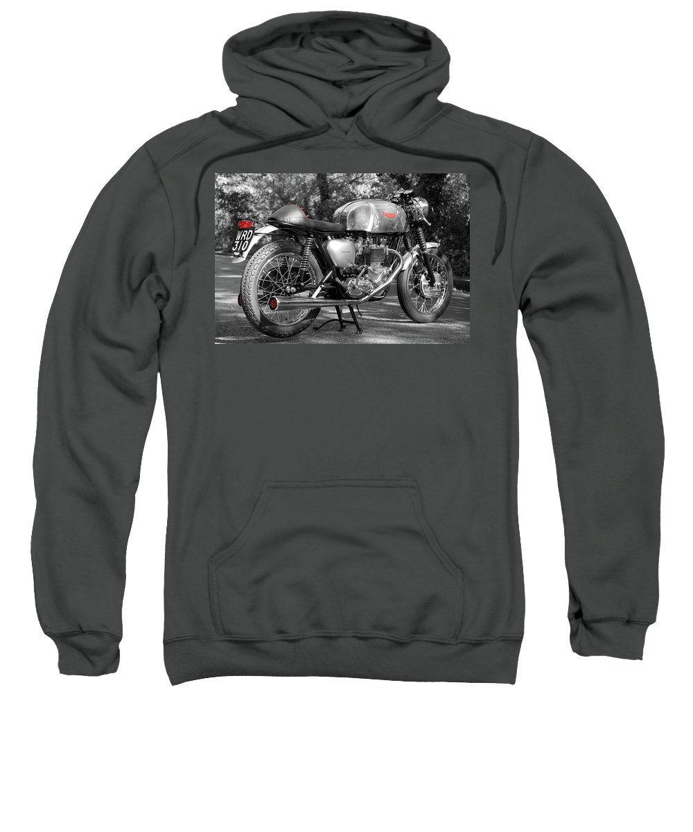 Cafe Racer Sweatshirt featuring the photograph Original Cafe Racer by Mark Rogan