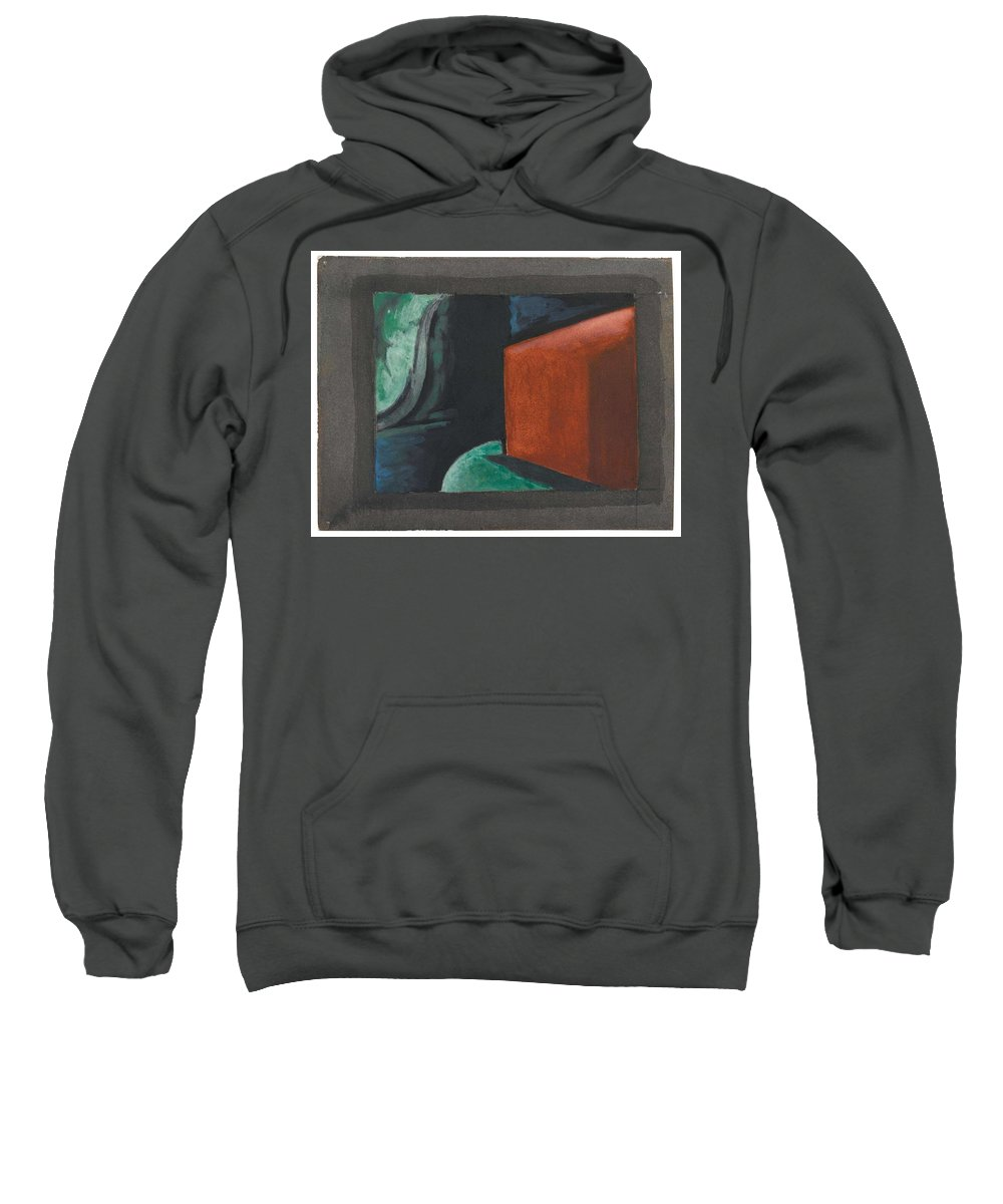 Art Sweatshirt featuring the painting Oscar Bluemner, Study For Approaching Black, 1932 by Oscar Bluemner