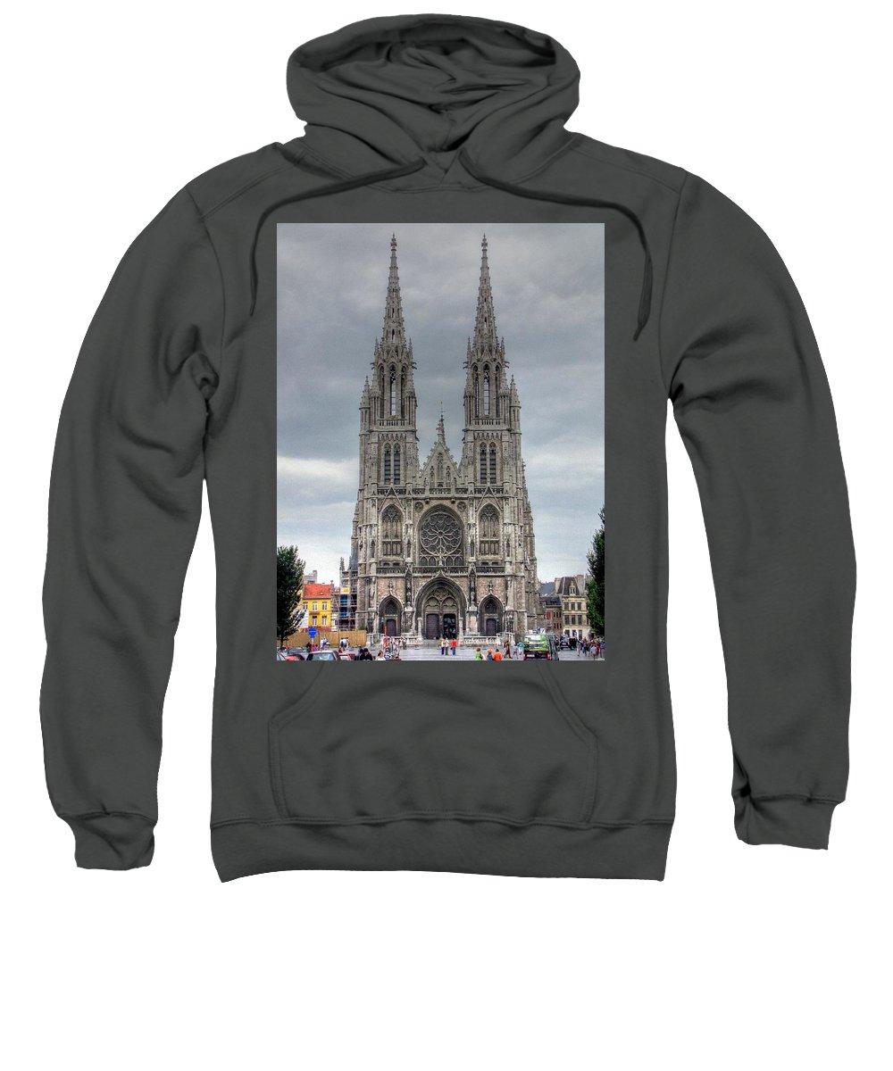 Ostend Belgium Sweatshirt featuring the photograph Ostend Belgium by Paul James Bannerman