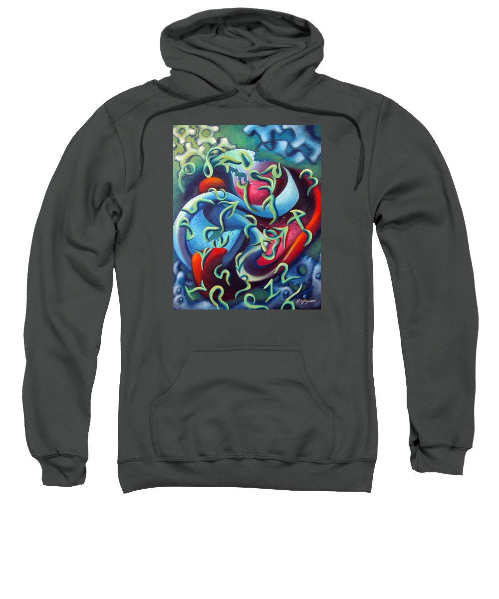 Clocks Sweatshirt featuring the painting Our Inner Clocks by Elizabeth Lisy Figueroa