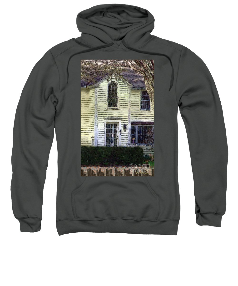 House Sweatshirt featuring the painting Our Town's Witch House by RC DeWinter