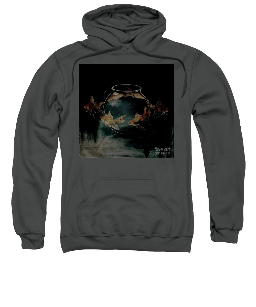 Surreal Sweatshirt featuring the painting out from Jar by Gull G