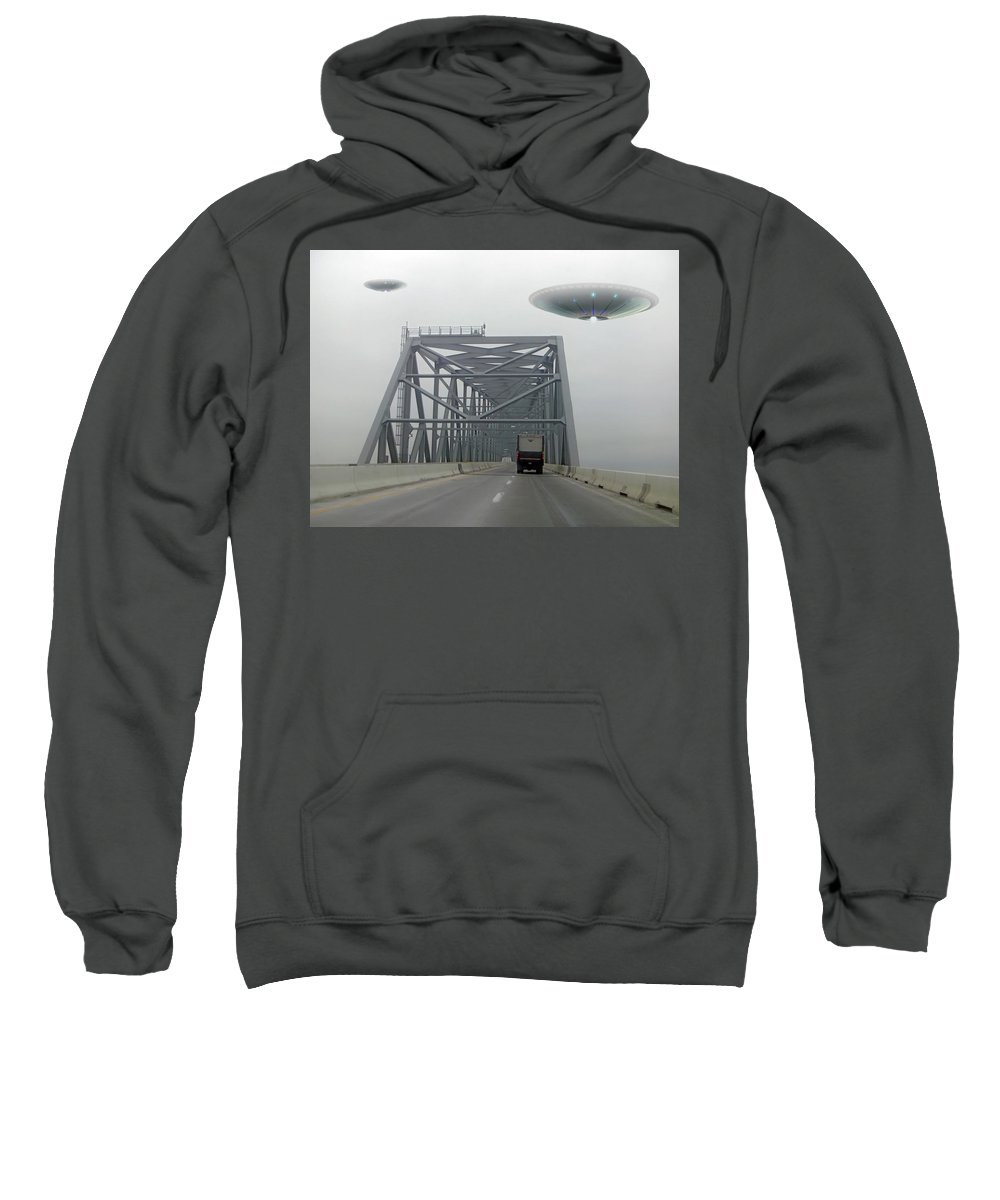 2d Sweatshirt featuring the photograph Out Of The Fog by Brian Wallace