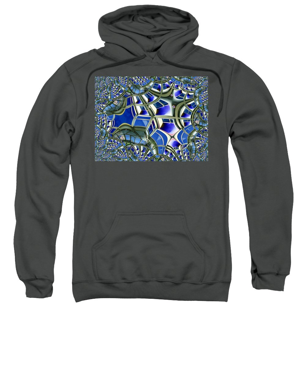 Windows Sweatshirt featuring the photograph Out The Looking Glass by Tim Allen
