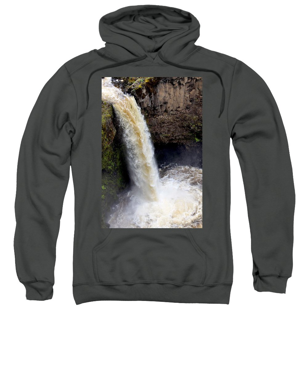 Travel Sweatshirt featuring the photograph Outlet Falls by Nicholas Miller