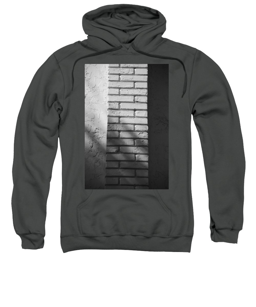 Black And White Sweatshirt featuring the photograph Outside The Wall by Rob Hans