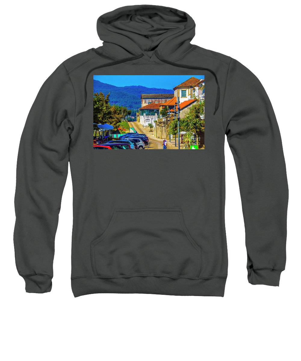 Valenca Sweatshirt featuring the photograph Outskirts Of Valenca by Roberta Bragan