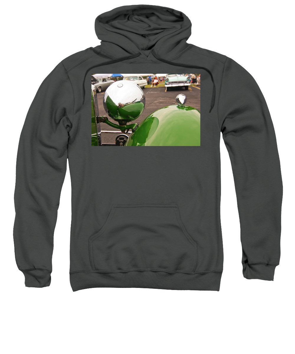 Antique Car Sweatshirt featuring the photograph Over My Shoulder 2042 by Guy Whiteley