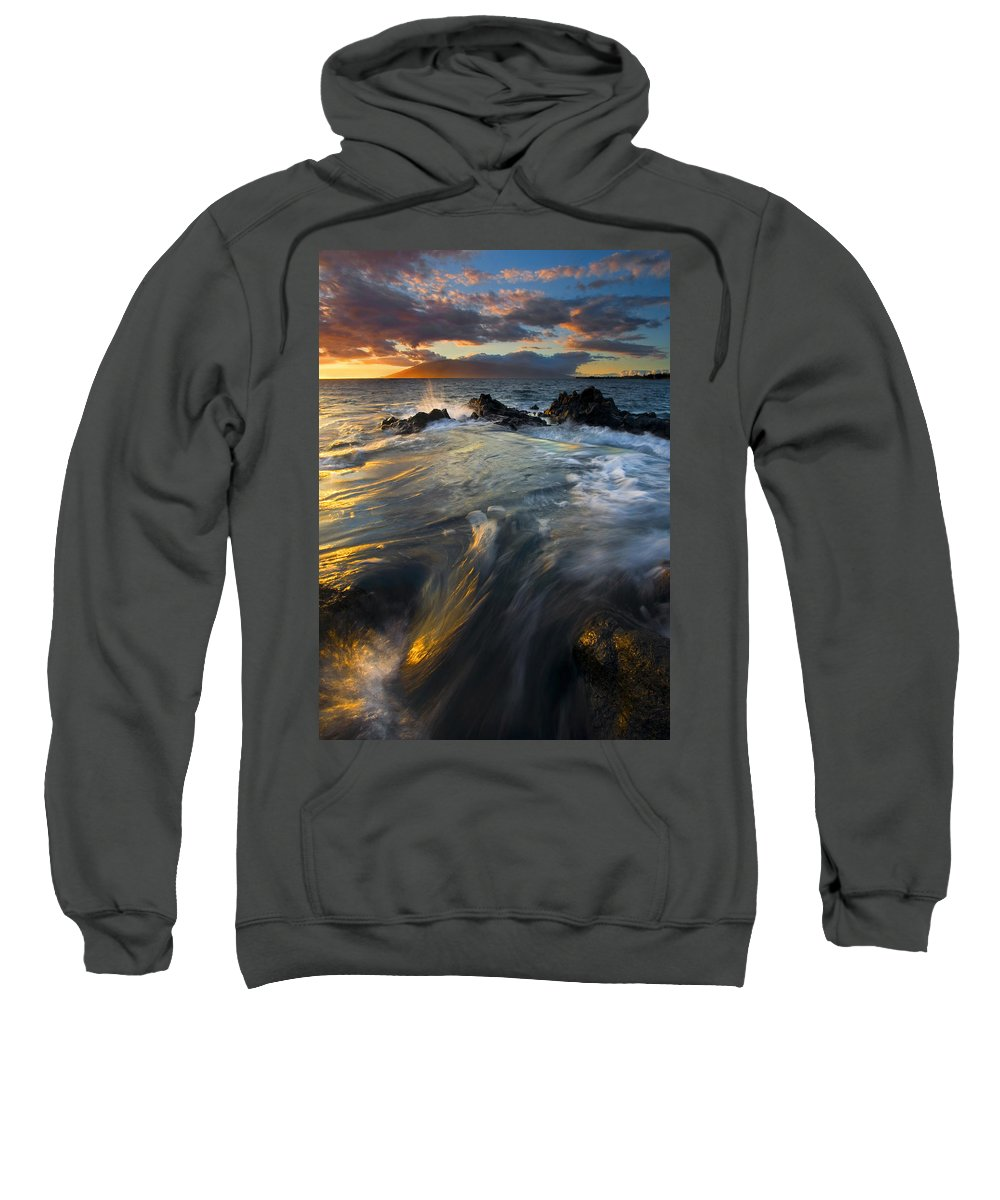 Cauldron Sweatshirt featuring the photograph Overflow by Mike Dawson