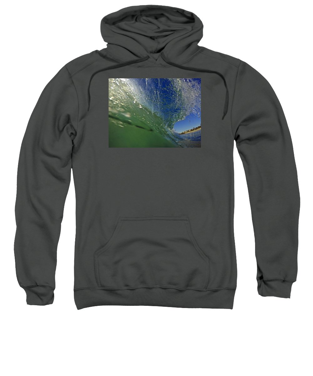 Wave Sweatshirt featuring the photograph Overhead Wave by Michael Cappelli