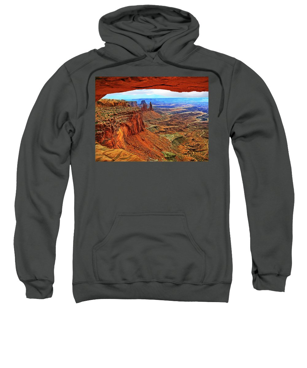 Moab Sweatshirt featuring the photograph Overlooking Canyonlands National Park  Moab Utah by Gary Baird