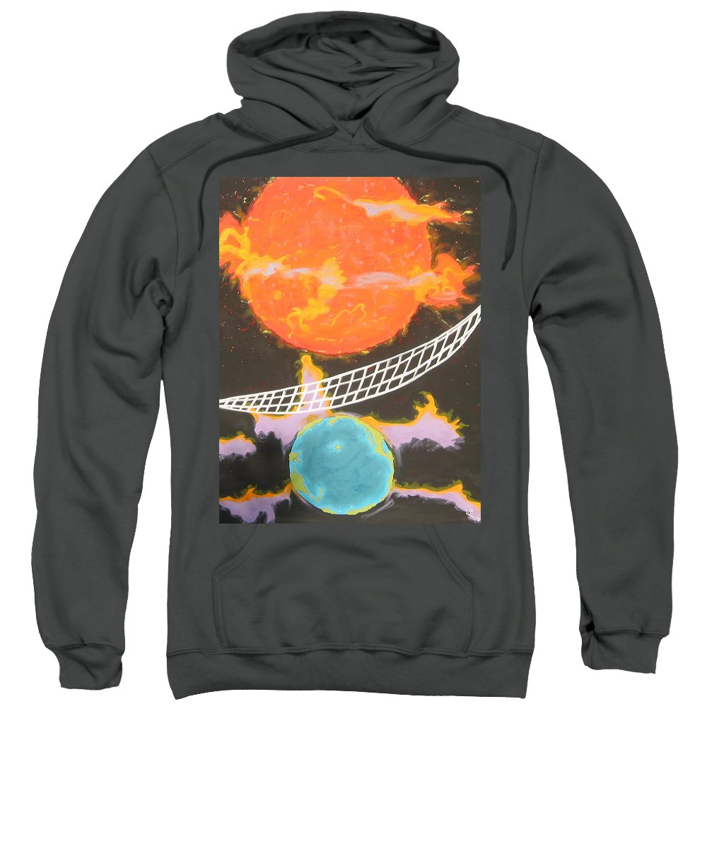 Environment Sweatshirt featuring the painting Ozone Net by V Boge