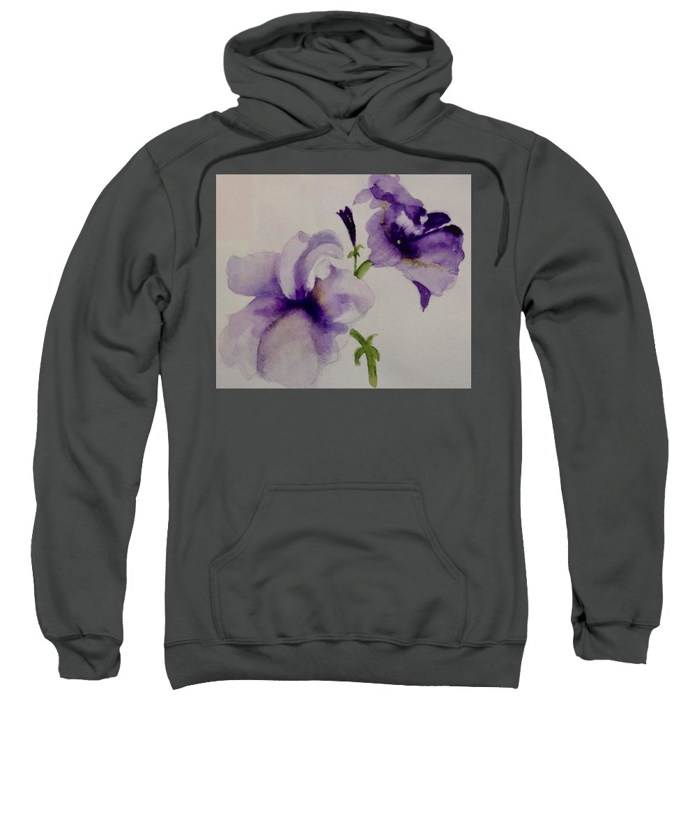 Petunia Sweatshirt featuring the painting P P Petunia by Nicole Curreri