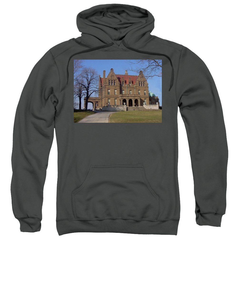Pabst Mansion Sweatshirt featuring the photograph Pabst Mansion Photo by Anita Burgermeister