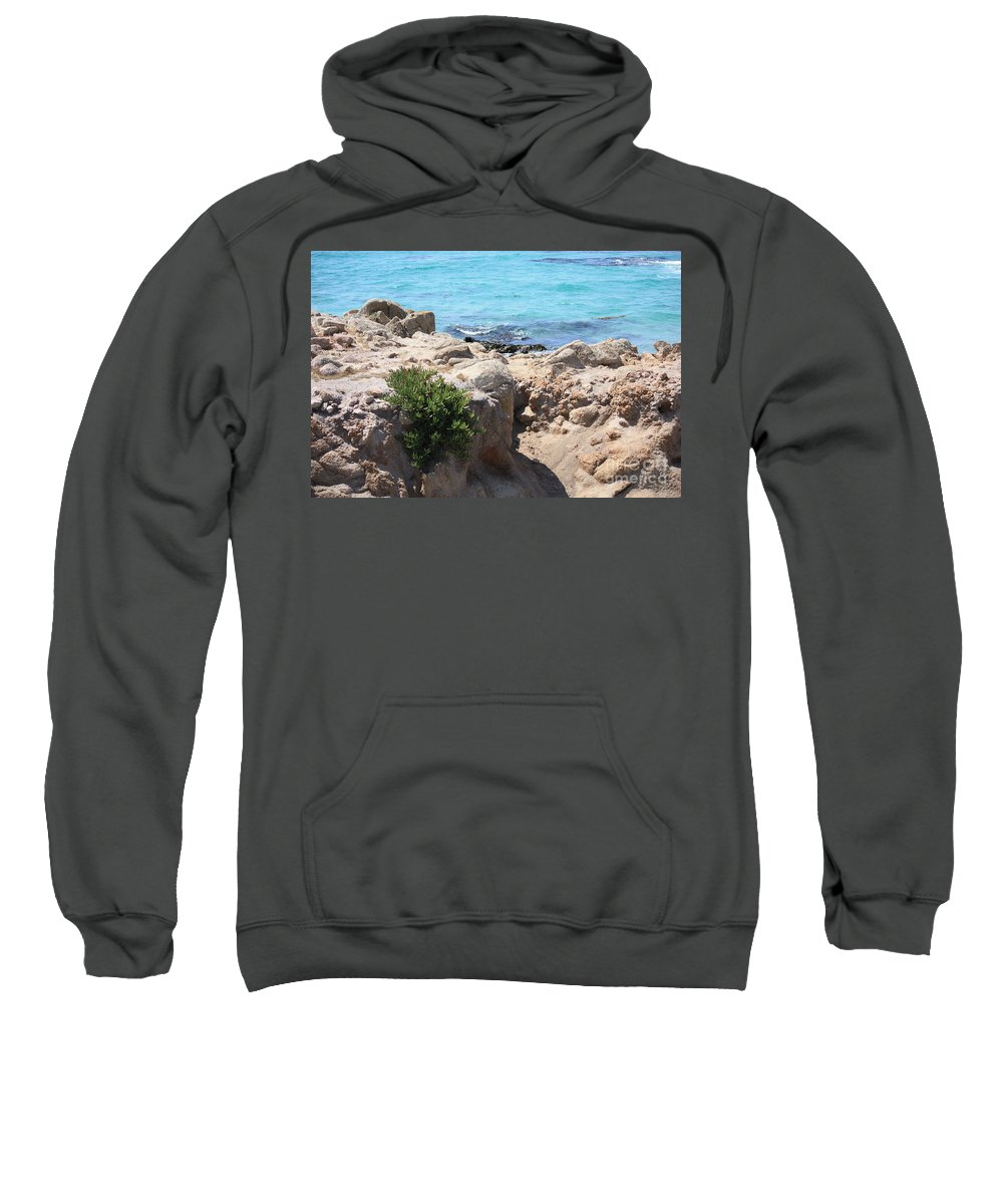 California Sweatshirt featuring the photograph Pacific Blue by Carol Groenen