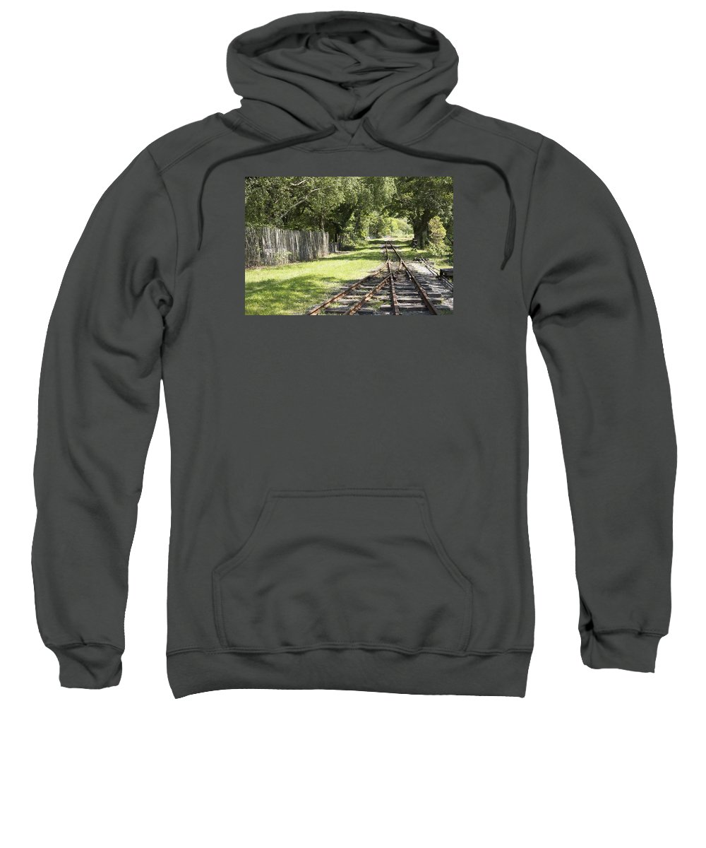 Railways Sweatshirt featuring the photograph Padarn Lake Railway by Christopher Rowlands