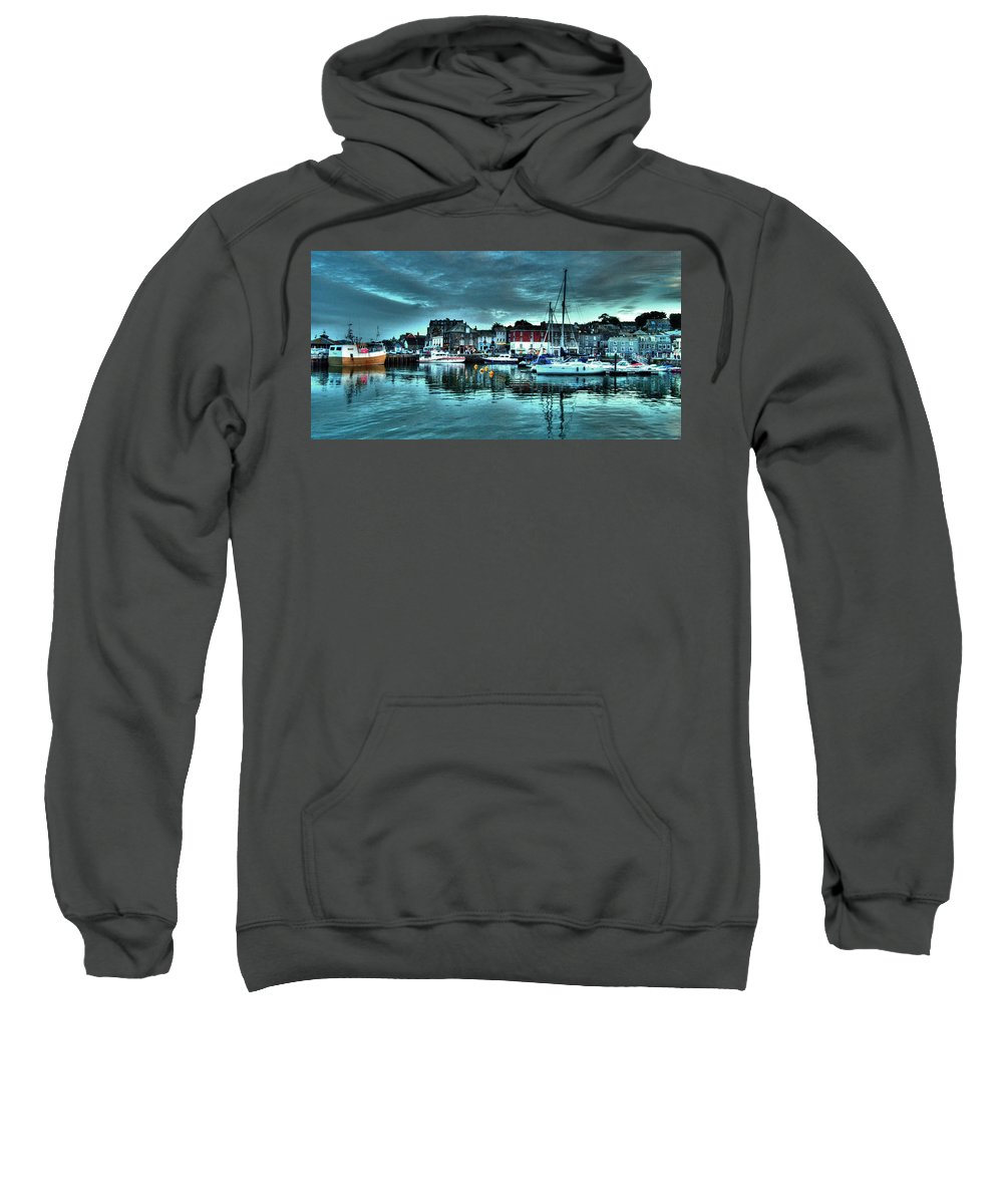 Padstow Sweatshirt featuring the photograph Padstow Harbour At Dusk by Rob Hawkins