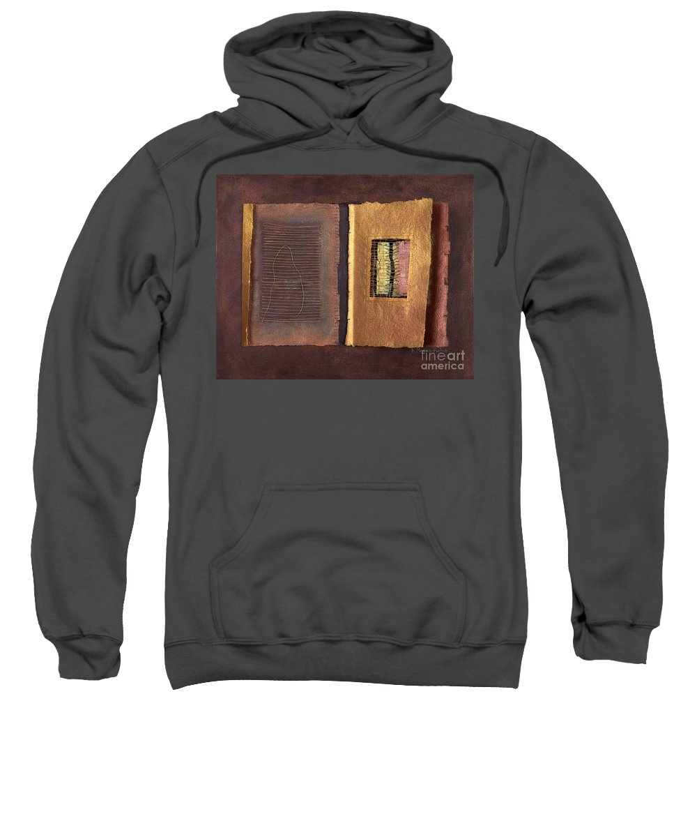 Pageformat Sweatshirt featuring the painting Page Format No 2 Transitional Series by Kerryn Madsen-Pietsch