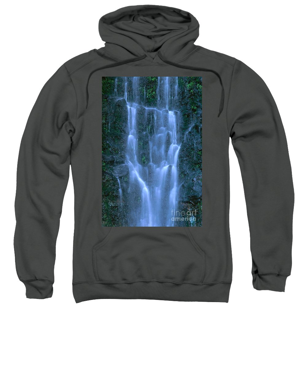 Active Sweatshirt featuring the photograph Paihi Falls by Bill Brennan - Printscapes