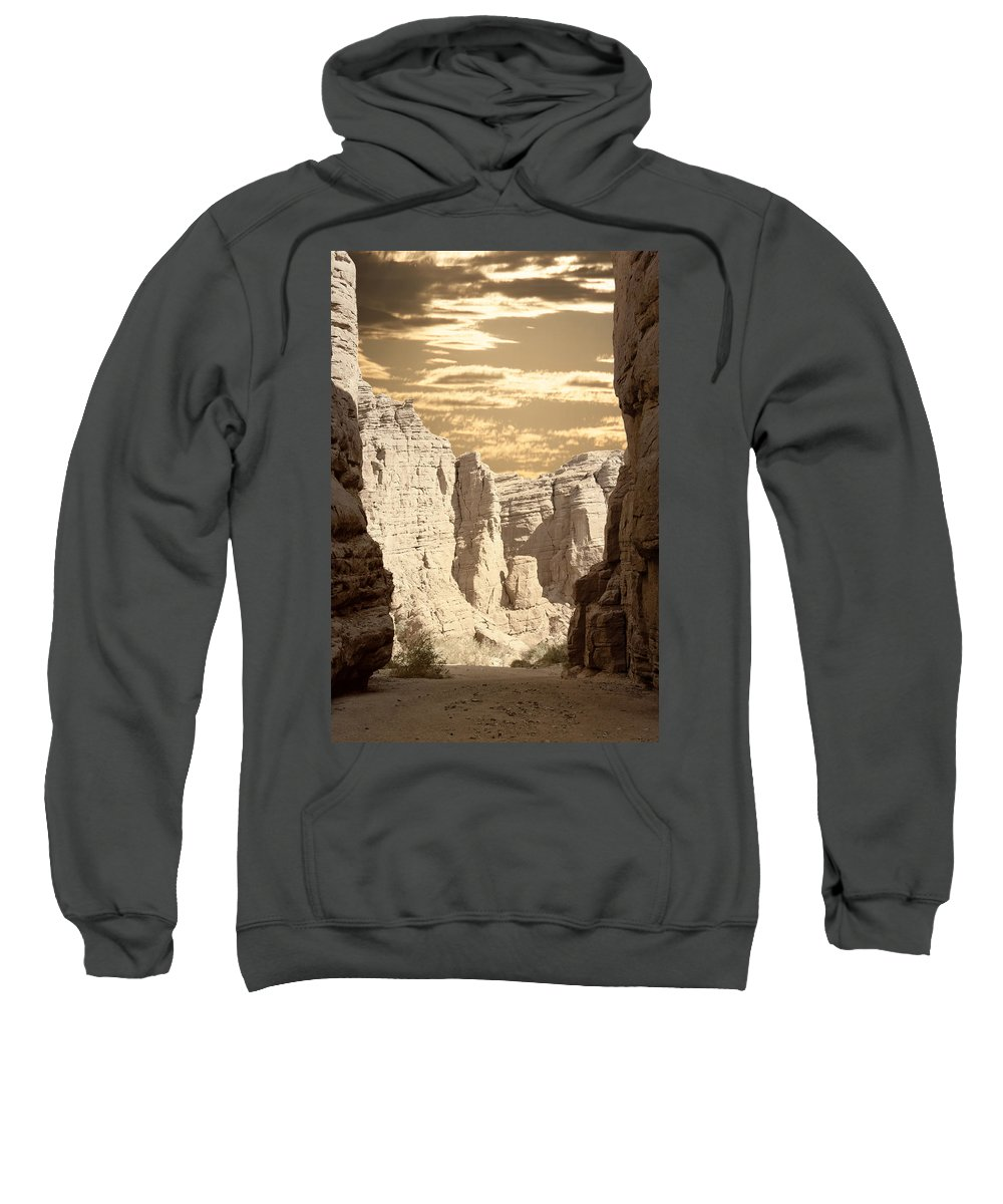Painted Canyon Trail Sweatshirt featuring the photograph Painted Canyon Trail by Linda Dunn