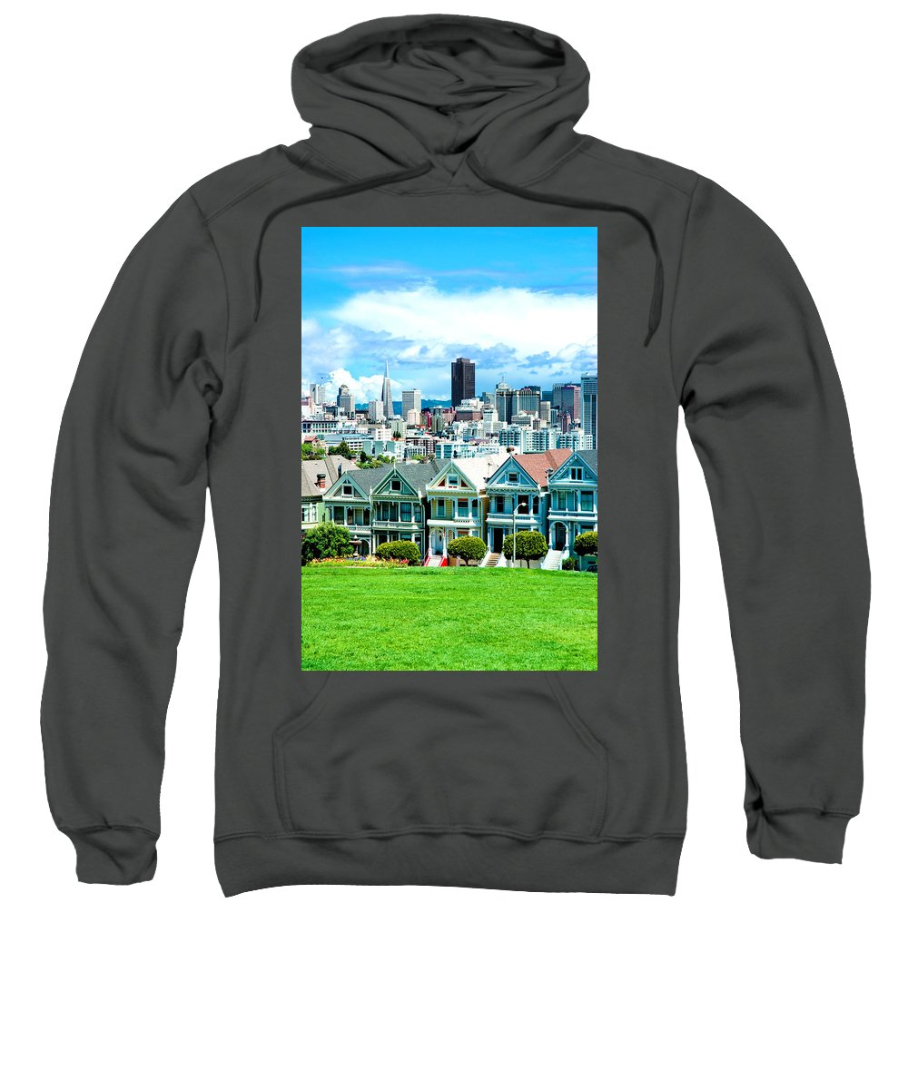 San Francisco Sweatshirt featuring the photograph Painted Ladies by Greg Fortier