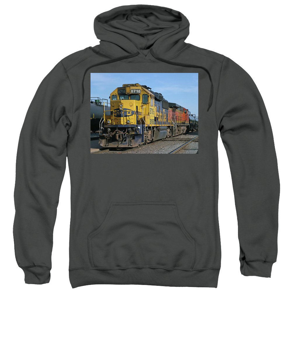 Diesel Train Sweatshirt featuring the photograph Paired Up by Ken Smith