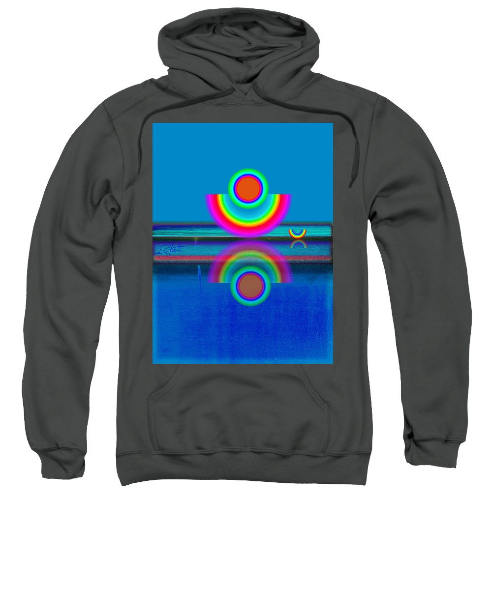 Reflections Sweatshirt featuring the painting Pale Blue Reflections by Charles Stuart