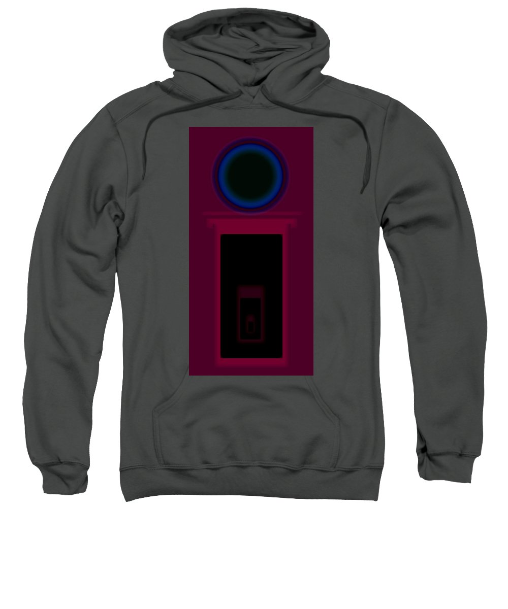 Palladian Sweatshirt featuring the painting Palladian Magenta by Charles Stuart