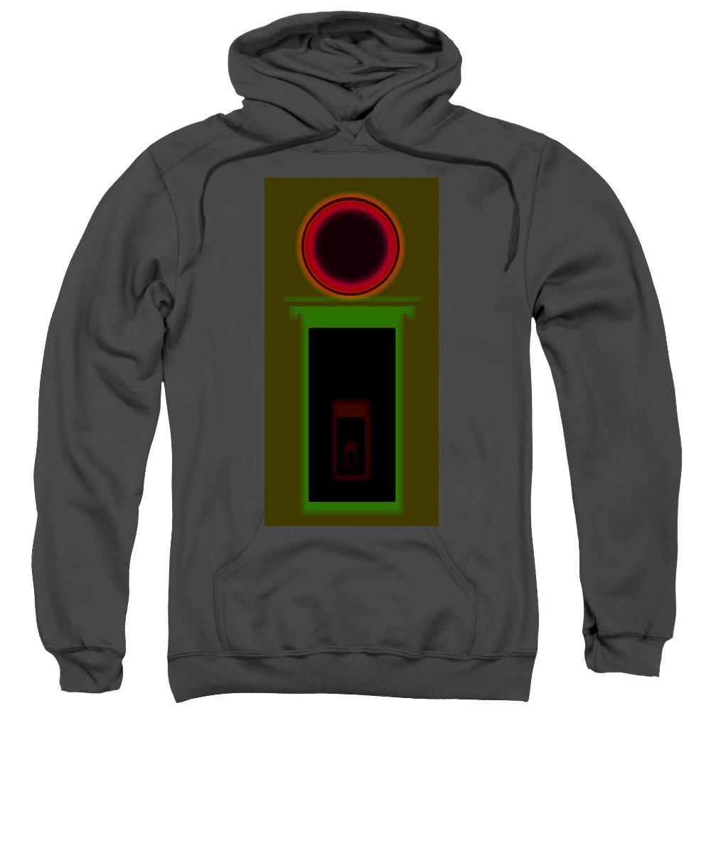 Palladian Sweatshirt featuring the painting Palladian Magic Theatre by Charles Stuart