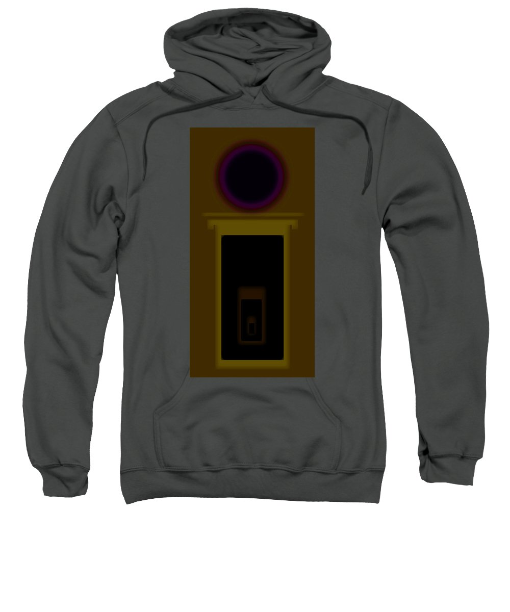 Palladian Sweatshirt featuring the painting Palladian Ochre by Charles Stuart