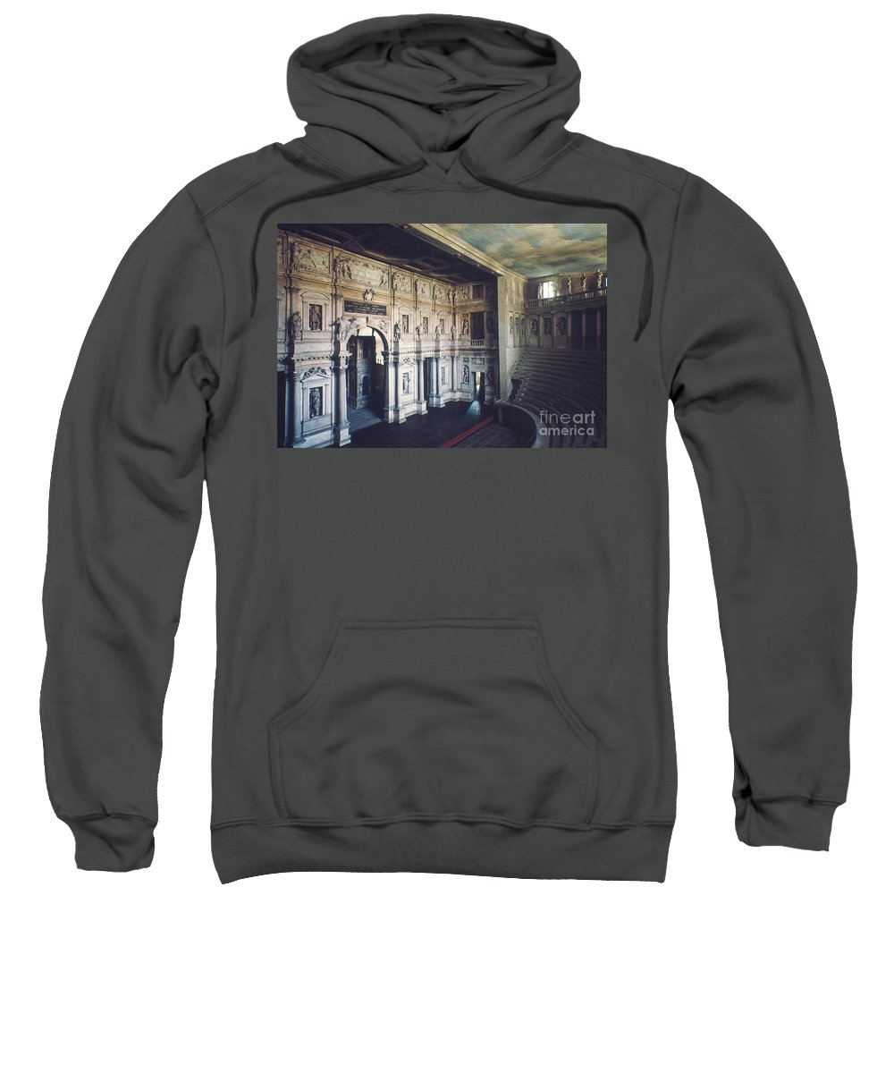 1579 Sweatshirt featuring the photograph Palladio: Teatro Olimpico by Granger