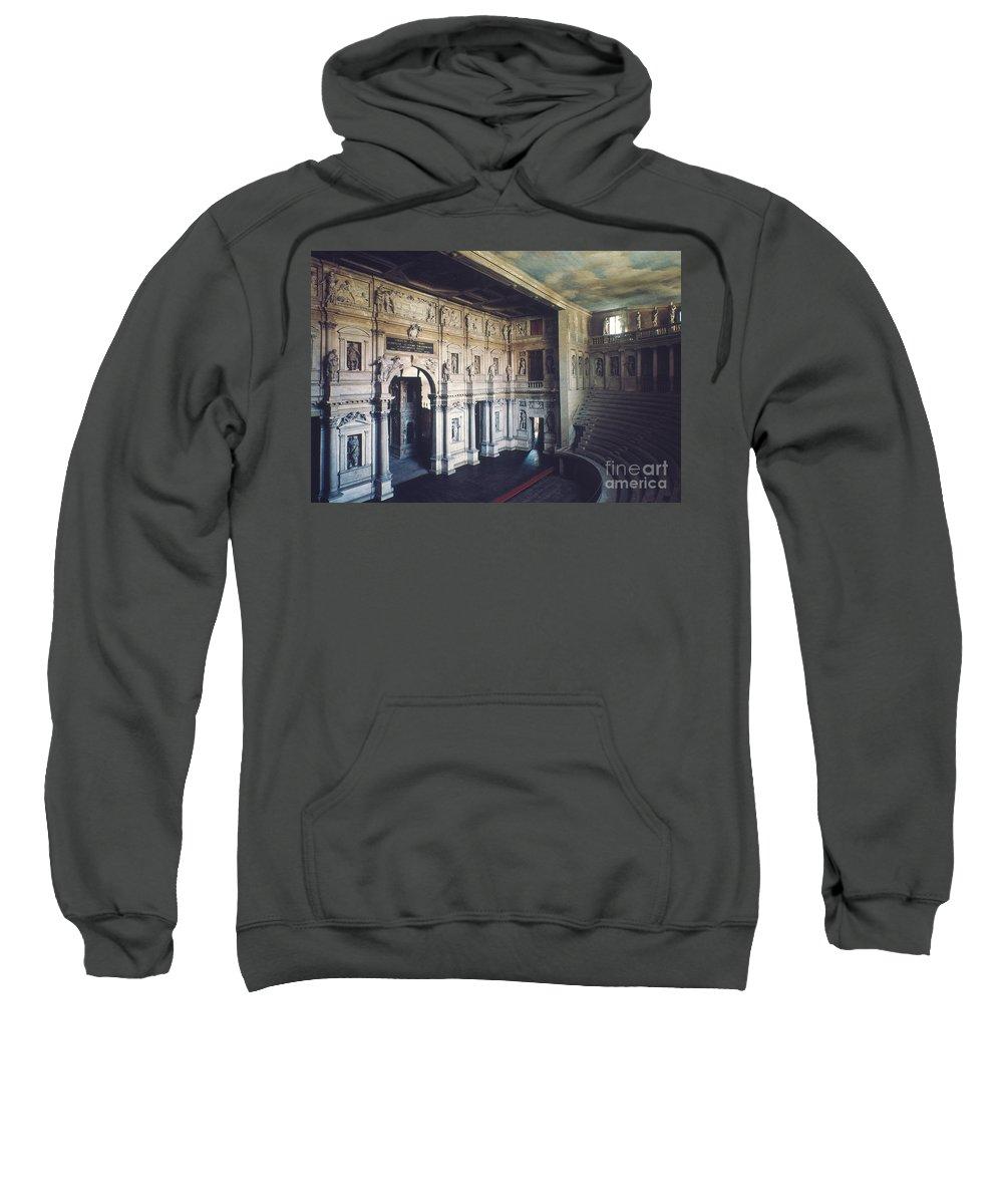 1579 Sweatshirt featuring the photograph Palladio: Teatro Olimpico by Granger