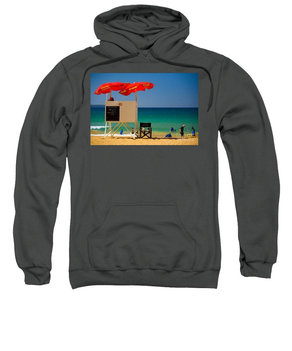 Palm Beach Sun Sea Sky Beach Umbrellas Sweatshirt featuring the photograph Palm Beach Dreaming by Sheila Smart Fine Art Photography