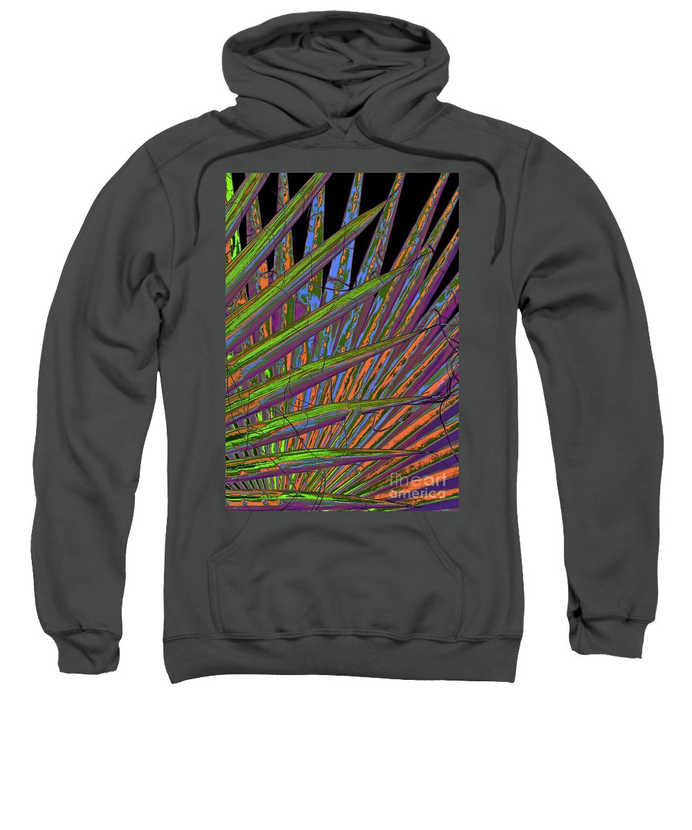 Palm Fron Sweatshirt featuring the photograph Palm Meanings by Gwyn Newcombe