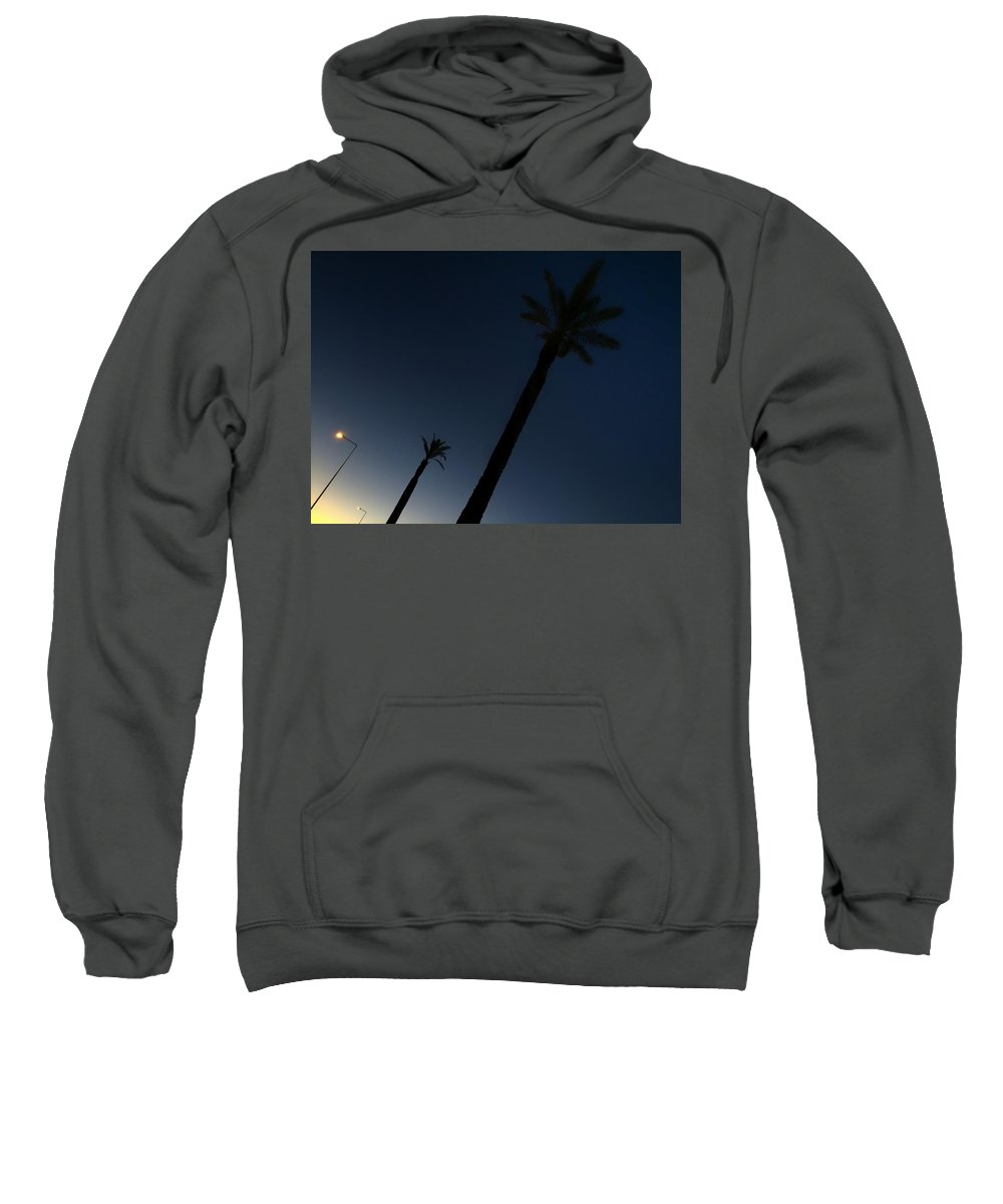 Dawn Sweatshirt featuring the photograph Palm Trees In The Early Morning by Dirk Jung