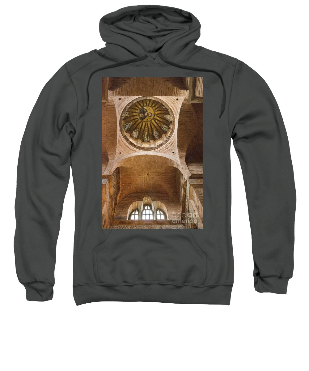 Fatih Sweatshirt featuring the photograph Pammakaristos Church Interior by Bob Phillips