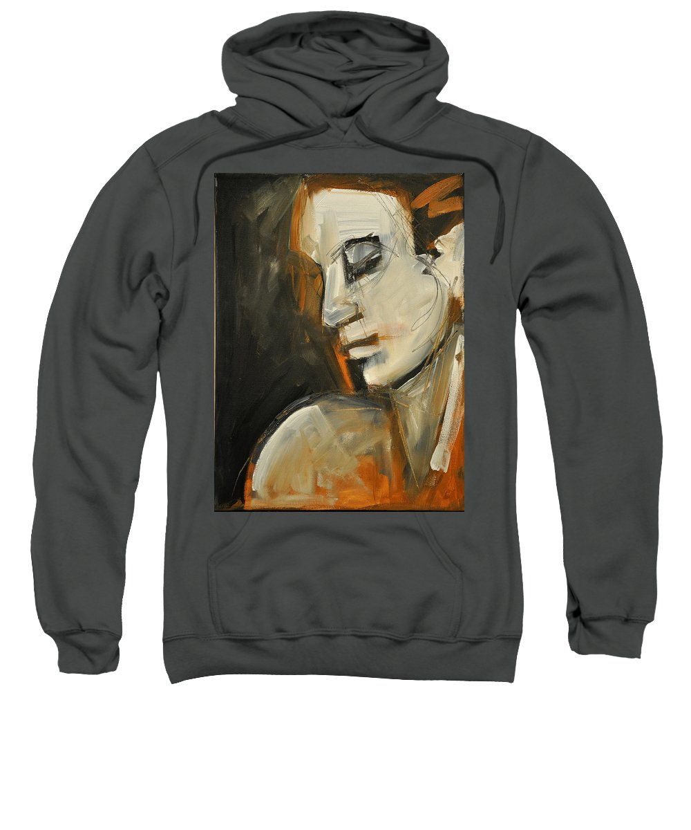 Woman Sweatshirt featuring the painting Pandora by Tim Nyberg