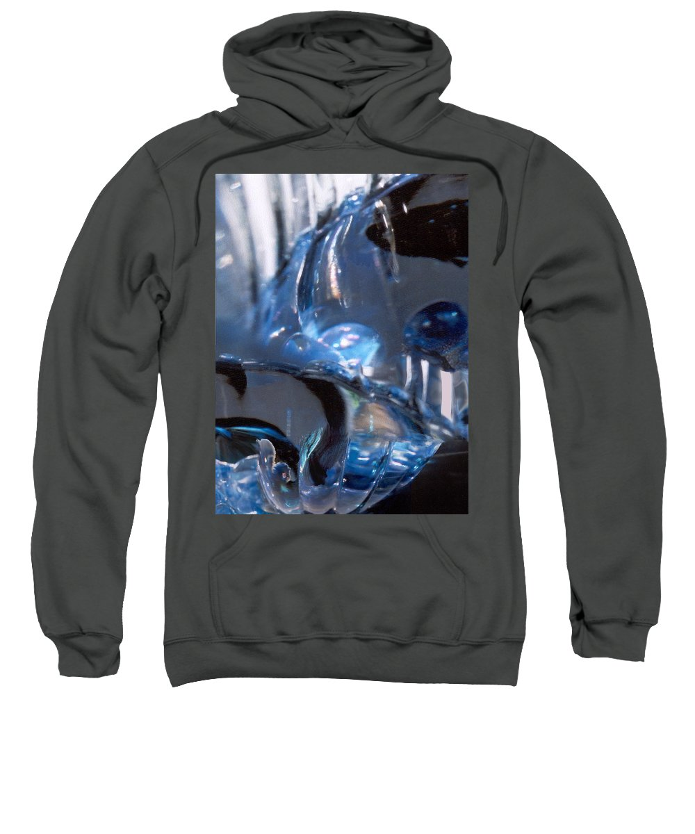 Glass Sweatshirt featuring the photograph Panel 2 From Swirl by Steve Karol