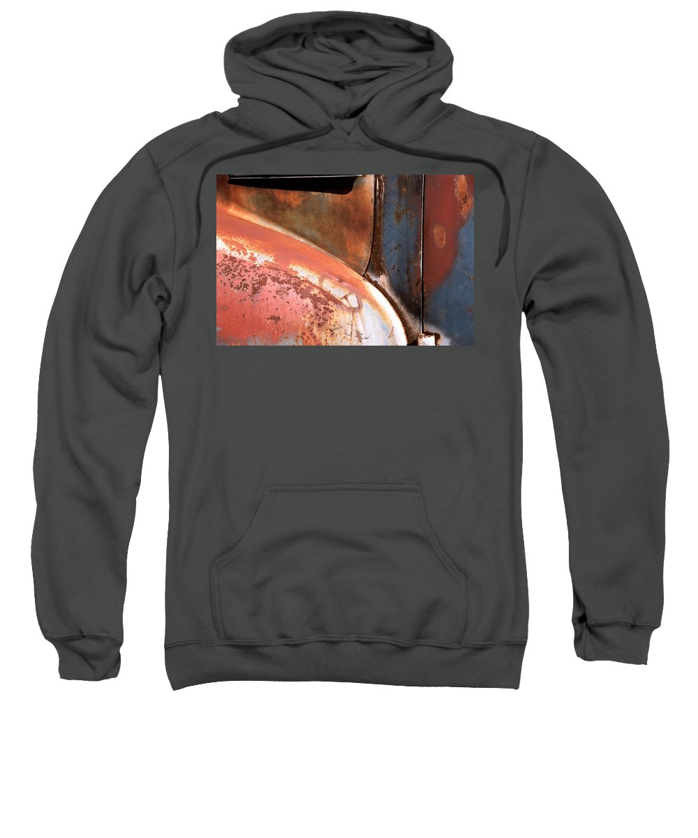 Abstract Sweatshirt featuring the photograph Panel From Ole Bill by Steve Karol